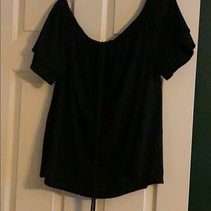 Black off shoulder tee, Lane Bryant, 18/20